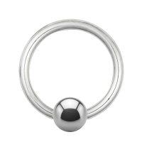 Piercing Klemmring - Titan - Silber - 1.6mm