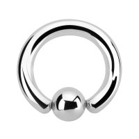 Klemmkugelring Piercing BCR | Silber | 48...
