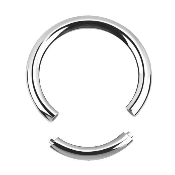 Piercing Segmentring - Stahl - Silber - 1.2mm