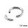 Piercing Segmentring - Stahl - Silber - 1.6mm