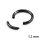 Piercing Segmentring - Stahl - Schwarz - 1.2mm