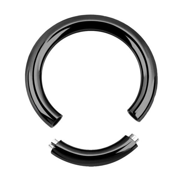 Piercing Segmentring - Stahl - Schwarz - 1.6mm