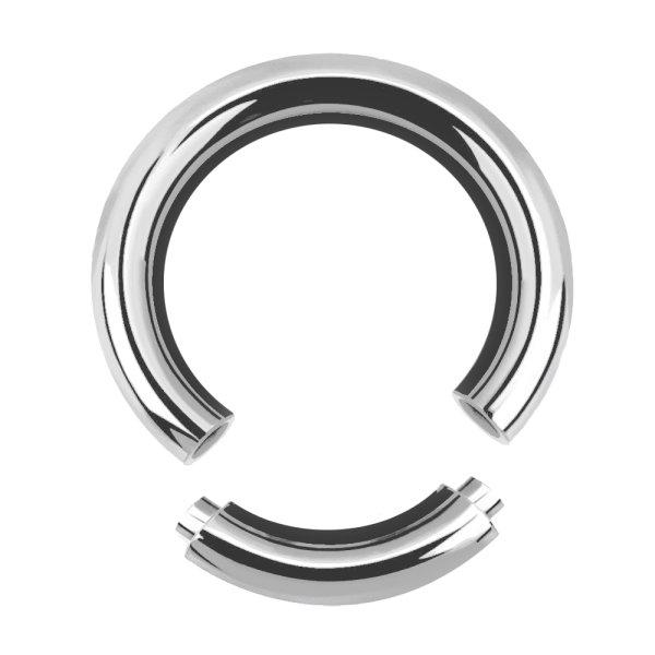 Piercing Segmentring - Stahl - Silber - 2.0mm bis 6.0mm