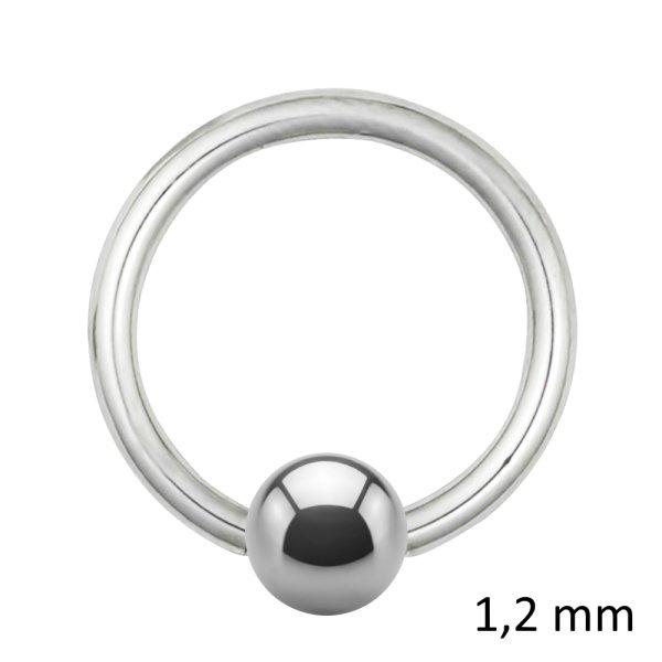 Piercing Klemmring - Stahl - Silber - 1.2mm