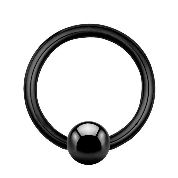 Piercing Klemmring - Stahl - Schwarz - 1.2mm