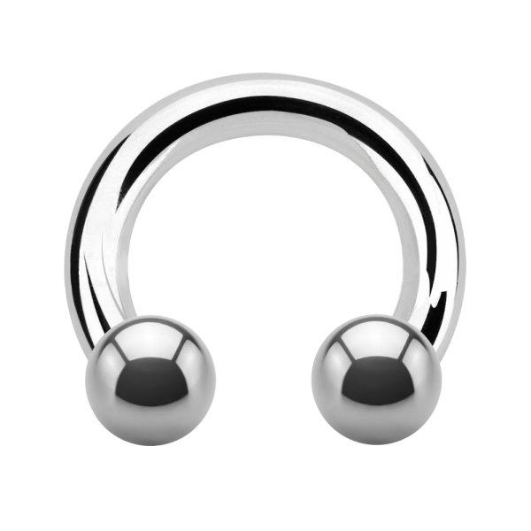 Dicker Hufeisen Piercing Ring CBR | Chirurgenstahl | Silber