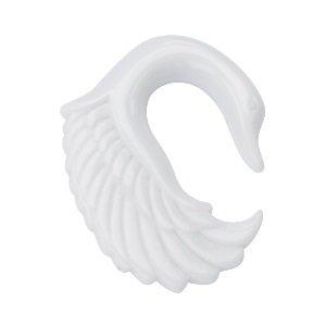 Dehnsichel - Kunststoff - Schwan - Weiß