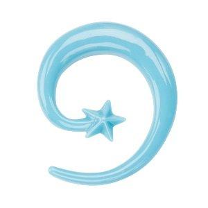 Schnecke - Kunststoff - Blau - Stern
