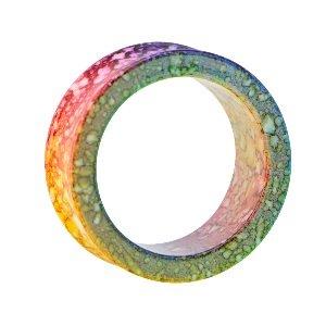 Flesh Tunnel - Kunststoff - Marmor - Regenbogen