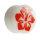 Ohr Plug - Knochen - Hibiskus - Rot