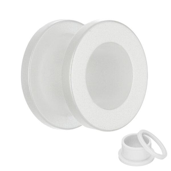 Flesh Tunnel - Kunststoff - Pearl - Weiß