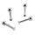 Piercing Labret - Stahl - Silber - 2.0mm bis 2.5mm