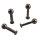 Piercing Labret - Stahl - Schwarz - 2.0mm bis 2.5mm