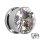 Kristall Plug - Stahlfassung - GEWINDE