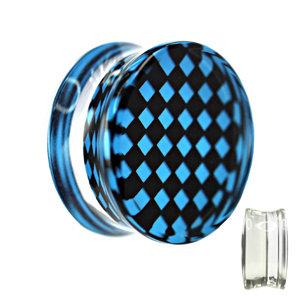 Silhouette Plug - Schachbrett - Karo - Blau