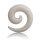 Dehner - Schnecke - Kunststoff - weiß