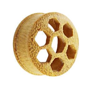 Holz Plug - Jackfrucht Holz - Bienenwabe